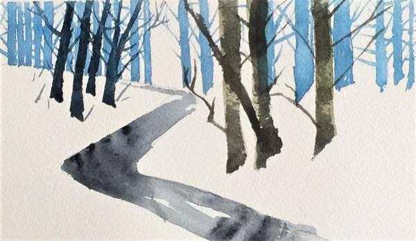 Painting - Simply Winter by Sonja Jones