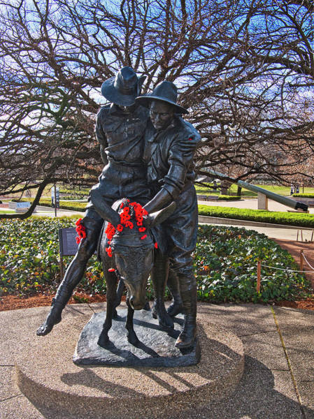 Photograph - Simpson And His Donkey - Canberra - Australia by Steven Ralser
