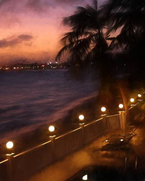 Photograph - Simpson Bay Caribbean Nights Painterly by Toby McGuire