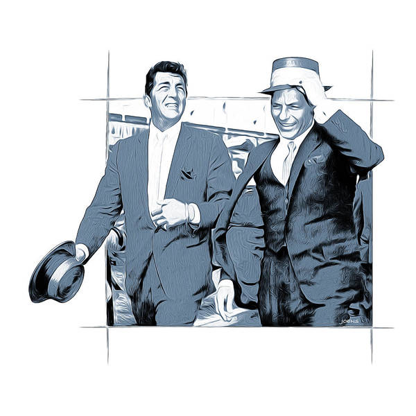 Golden Digital Art - Sinatra And Martin by Greg Joens