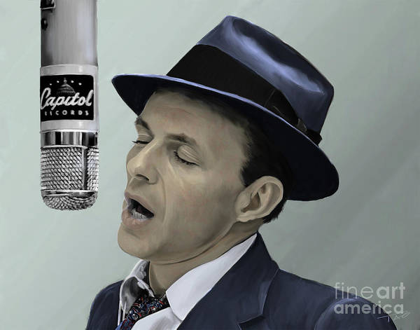 Shower Curtain Painting - Sinatra - Color by Paul Tagliamonte