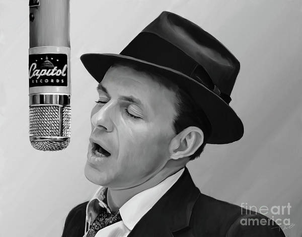 Shower Curtain Painting - Sinatra by Paul Tagliamonte