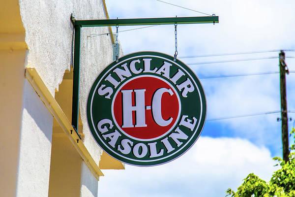 Photograph - Sinclair Gasoline Round Sign by Doug Camara