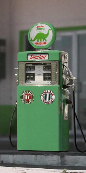 Wall Art - Photograph - Sinclair Gasoline - Wayne Double Pump by Mike McGlothlen