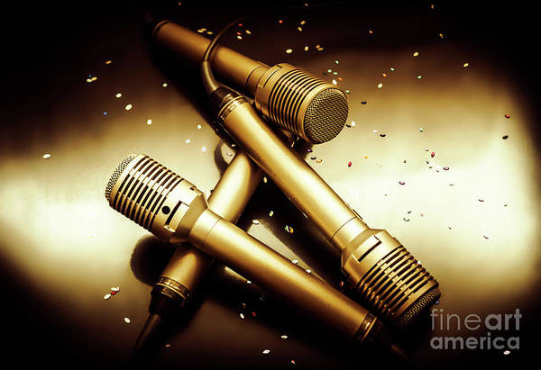 Microphone Photograph - Sing Star Concert by Jorgo Photography - Wall Art Gallery
