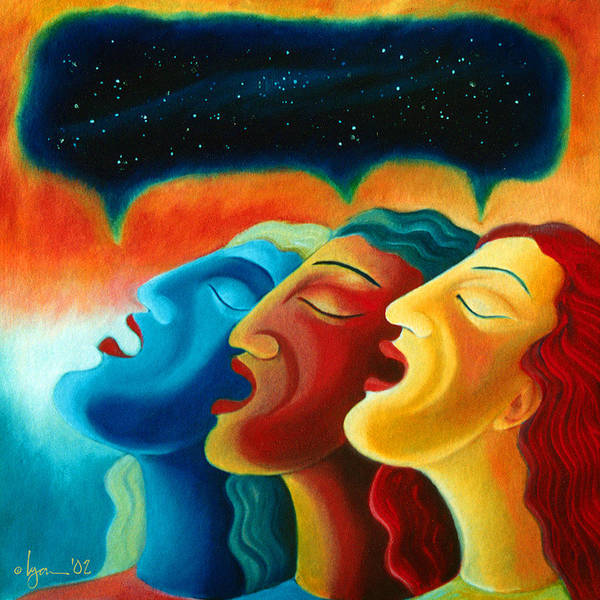 Painting - Sing The Cosmos by Angela Treat Lyon