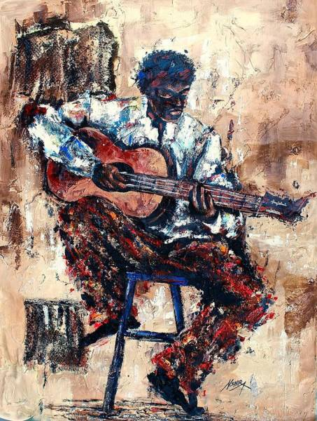 Painting - Sing Us A Song by Daniel Akortia
