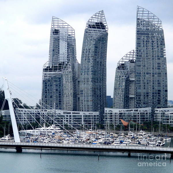 Wall Art - Photograph - Singapore Architecture 19 by Randall Weidner