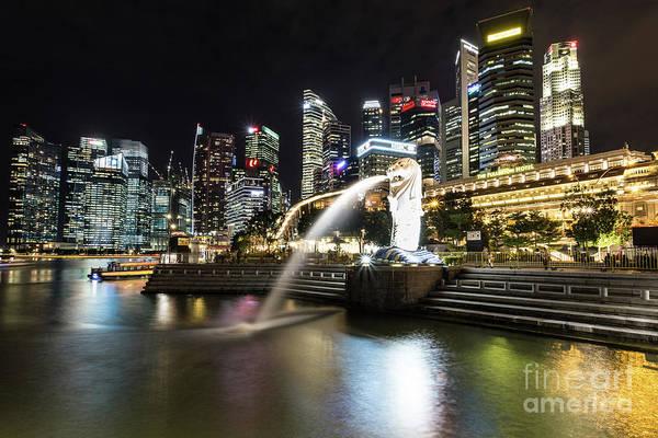 Photograph - Singapore Marina Bay At Night by Didier Marti