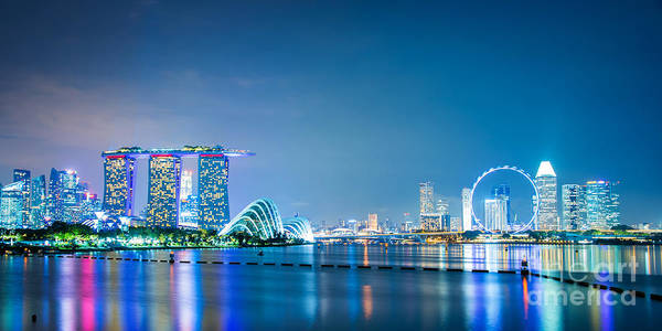 Wall Art - Photograph - Singapore Panorama by Delphimages Photo Creations
