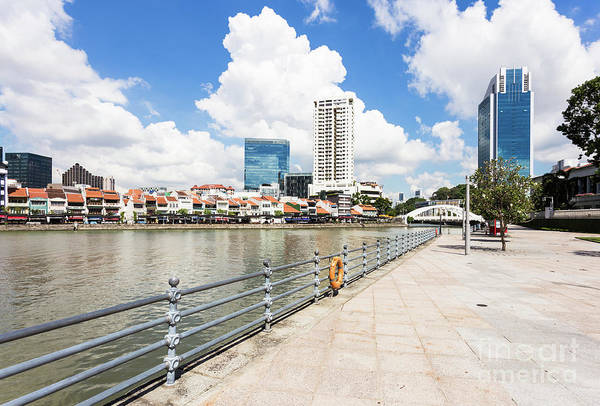 Photograph - Singapore River On A Sunny Day by Didier Marti