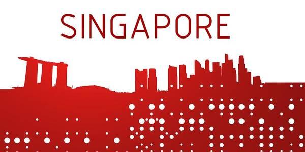 Digital Art - Singapore Skylina by Alberto RuiZ