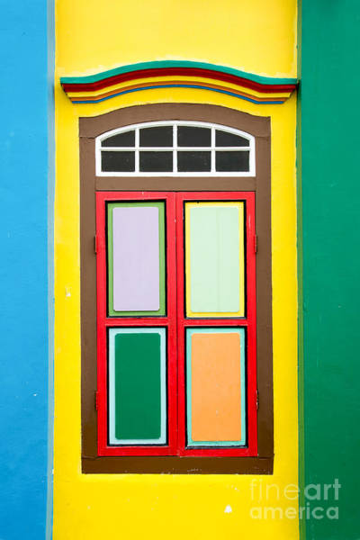 Wall Art - Photograph - Singapore Yellow Window by Delphimages Photo Creations