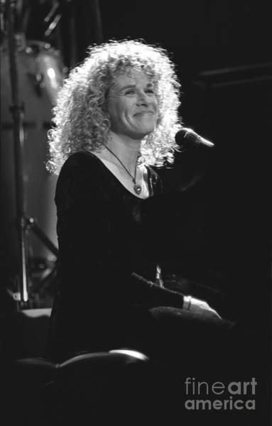 Carole King Photograph - Singer Carole King by Concert Photos