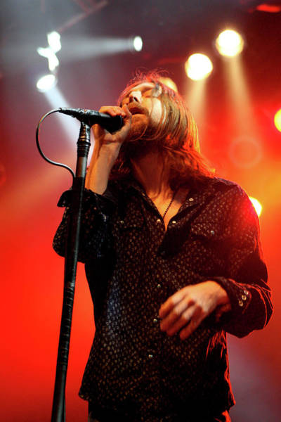 Black Crowes Wall Art - Photograph - Singer Chris Robinson Of The Black Crowes Performs With The Blac by Anna Webber