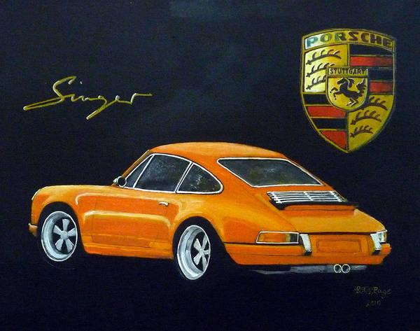 Painting - Singer Porsche by Richard Le Page