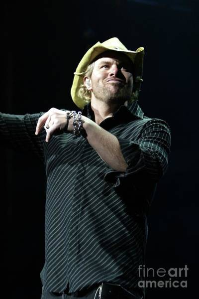 Wall Art - Photograph - Singer Toby Keith by Concert Photos