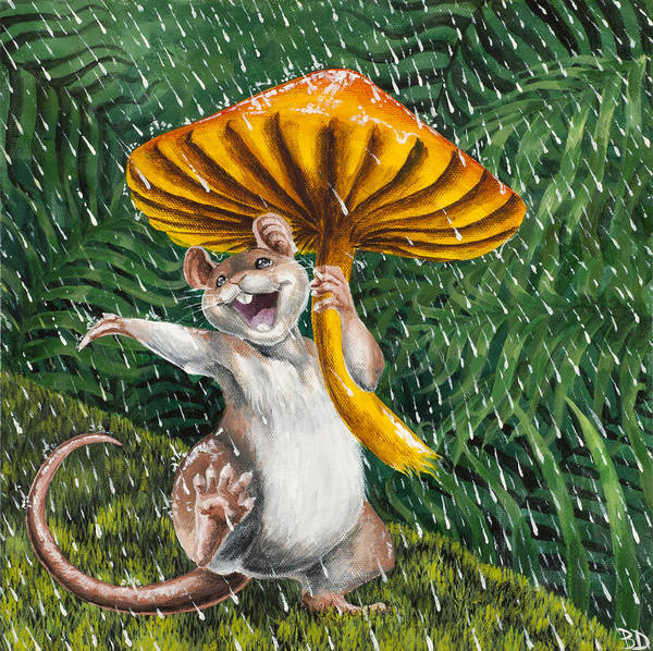 Rain Forest Painting - Singing In The Rain by Beth Davies