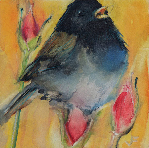 Painting - Singing Junco by Jani Freimann