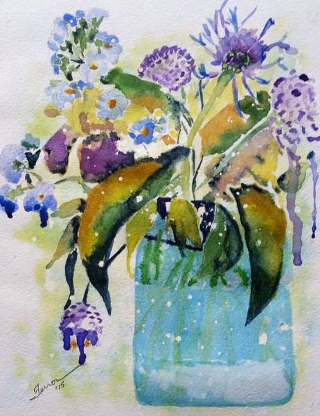 Art Print featuring the painting Singing The Blues by Patti Ferron