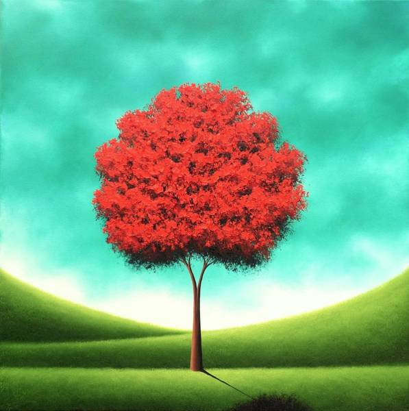 Blooming Tree Painting - Singing The Day by Rachel Bingaman