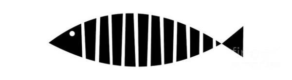 Digital Art - Single Fish  by Donna Mibus