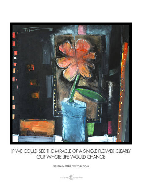 Painting - Single Flower Poster by Tim Nyberg
