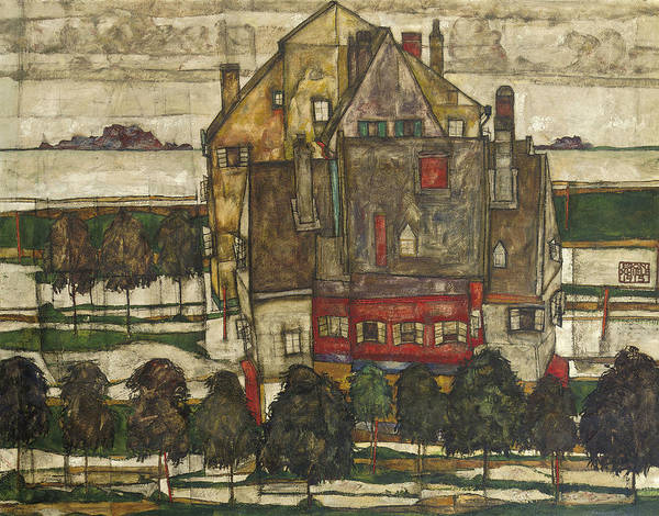 Painting - Single Houses by Egon Schiele