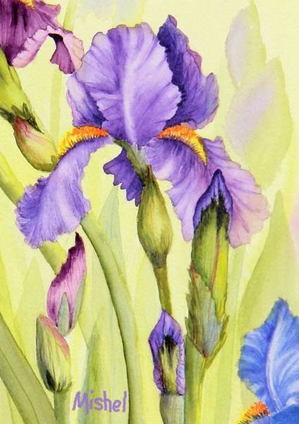 Painting - Single Iris by Mishel Vanderten