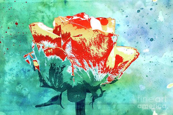 Digital Art - Single Rose by Jutta Maria Pusl