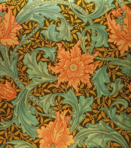 Painting - Single Stem Pattern by William Morris