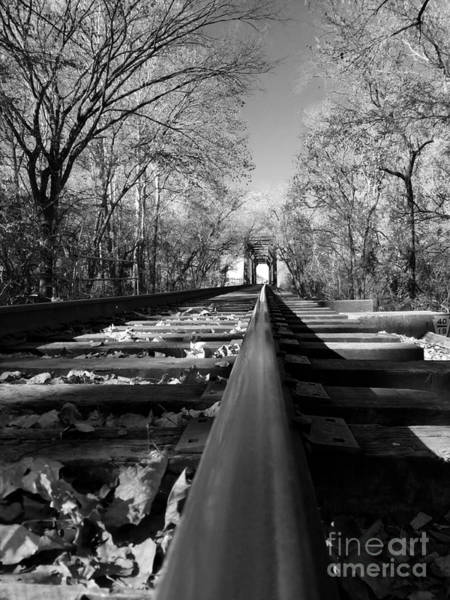 Millrace Wall Art - Photograph - Single Track Mind - Black And White by Scott D Van Osdol