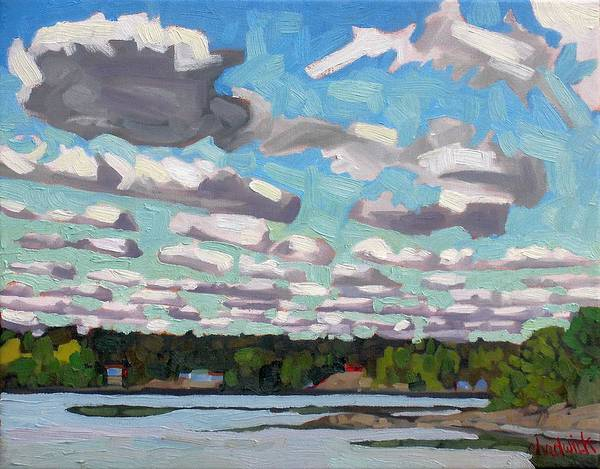 Stratocumulus Painting - Singleton Sc Streets by Phil Chadwick