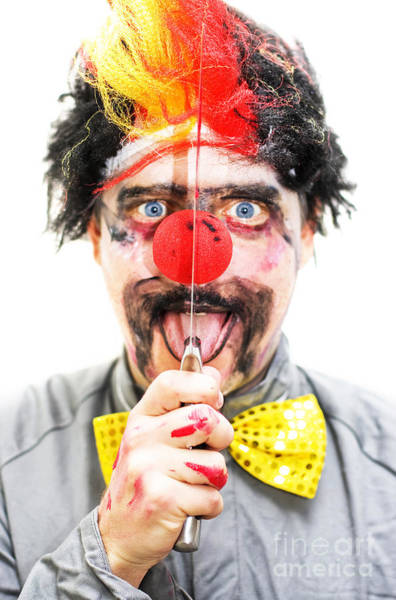 Ugliness Photograph - Sinister Clown by Jorgo Photography - Wall Art Gallery