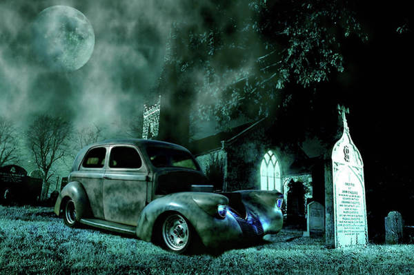 Grave Yard Photograph - Sinister by Steven Agius