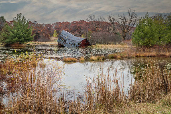 Photograph - Sinking Barn #4 by Patti Deters
