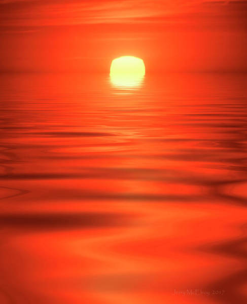 Wall Art - Photograph - Sinking Sun by Jerry McElroy