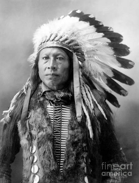 Wall Art - Photograph - Sioux Brave, C1900 by Granger