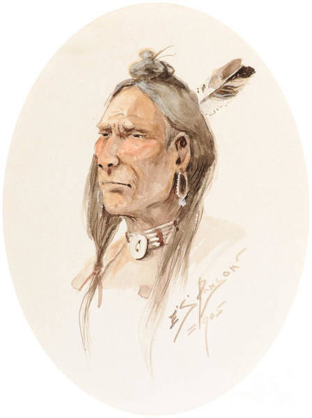 Painting - Sioux Brave  by Celestial Images