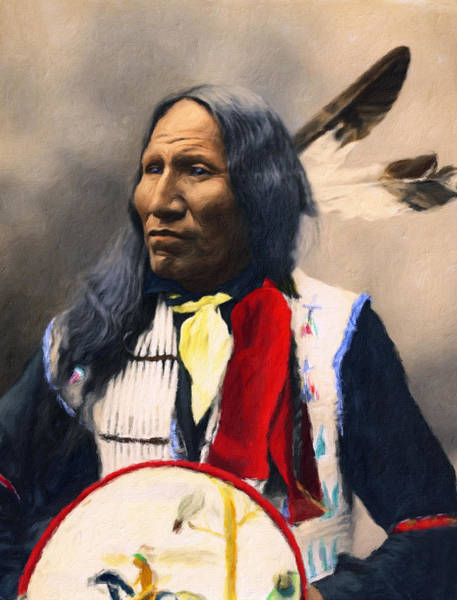 Sioux Chief Portrait Art Print