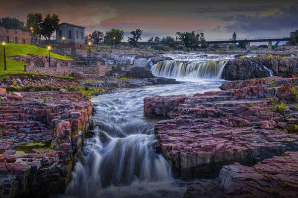 Photograph - Sioux Falls Waterfalls In Falls Park by Randall Nyhof