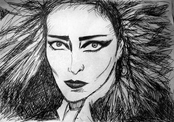 Sex Pistols Drawing - Siouxsie Sioux Drawing by Enki Art