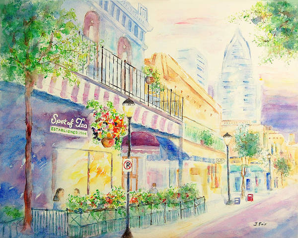 South Alabama Painting - Sipping Sweet Tea In Mobile by Jerry Fair