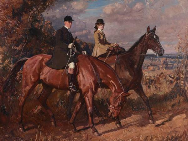 Wall Art - Painting - Sir Alfred James Munnings by MotionAge Designs
