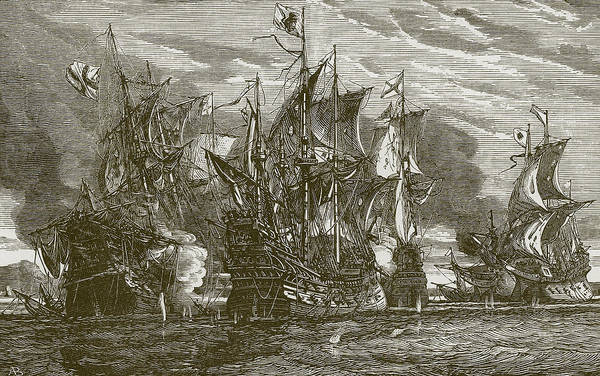 English Drawing - Sir Andrew Wood's Victory by English School
