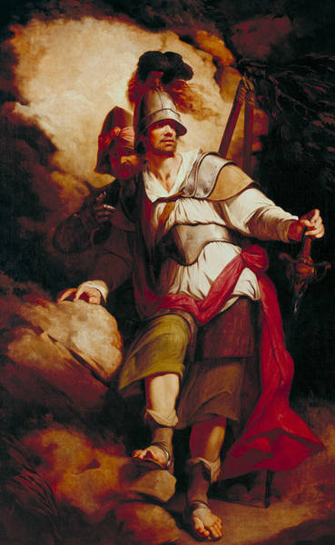 Faerie Painting - Sir Arthegal, The Knight Of Justice, With Talus, The Iron Man by John Hamilton Mortimer