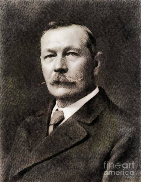 Poetry Painting - Sir Arthur Conan Doyle, Literary Legend by John Springfield