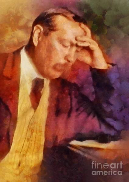 Poetry Painting - Sir Arthur Conan Doyle, Literary Legend by Sarah Kirk