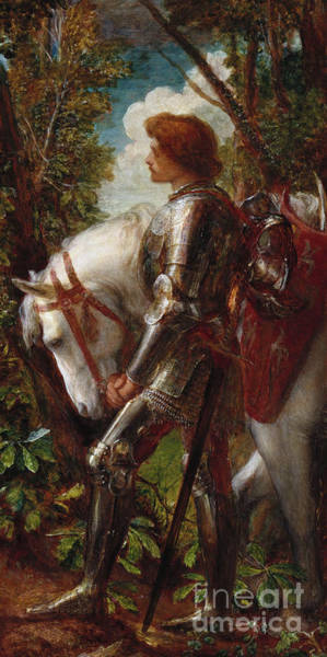 Reins Painting - Sir Galahad by George Frederick Watts