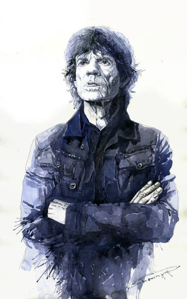 Figurative Wall Art - Painting - Sir Mick Jagger by Yuriy Shevchuk